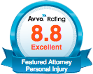 Avvo 8.8 Excellent Rating