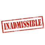 red letters that read inadmissible