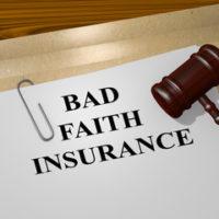 folder that reads bad faith insurance