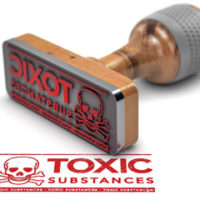 Toxic substance exposure stamp